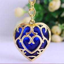 blue heart crystal necklace images Royal blue crystal heart keychain for girls jpg