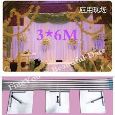 wedding backdrop and stand express free shipping 3x6m stainless steel pipe wedding backdrop