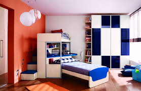beautiful white and orange boys room wall paint ideas with boys