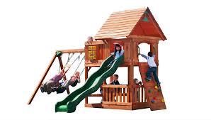 backyard discovery klondike cedar swing set outdoor playsets