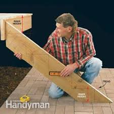 how to build stairs for your deck u2014 the family handyman