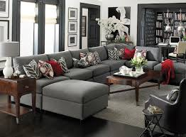 U Shaped Sectional With Chaise Beckham U Shaped Sectional By Bassett Furniture Contemporary