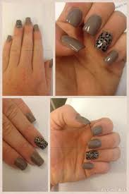 acrylic nails with perfect match 2week polish utopia leopard in