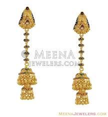 Chandelier Gold Earrings 22k Chandelier Earrings Indian Erfc10133 22k Gold Chandelier