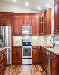 charleston cherry kitchen cabinets rta cherry cabinets from lily