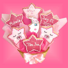 Cookie Bouquets Sd 6 Baby Star Cookie Bouquet Buy Now Baby Gifts Baby