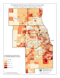 Chicago Community Map by New Foreclosure Filings Drop More Than 40 Percent In Chicago
