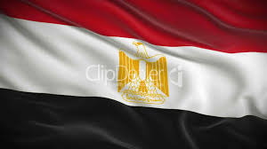 Egyption Flag Highly Detailed Egyptian Flag Ripples In The Wind Looped 3d