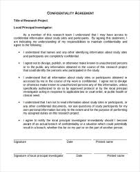 confidentiality agreement word doc best resumes curiculum vitae