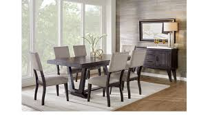 hill creek black 5 pc rectangle dining room rustic