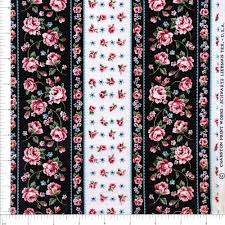 vintage black and pink roses fabric by the yard pink and black