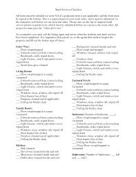 House Cleaning List Template Actual Maid Service Cleaning Checklist Homemaking 101