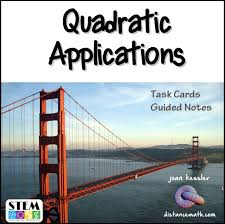 s of quadratics task cards plus guided notes