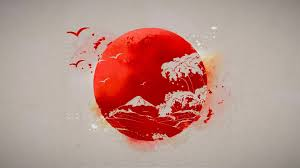 japanese sun drawing wallpaper and paintings wallpaper