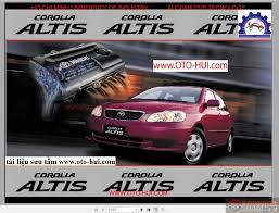 toyota corolla altis 2001 workshop manual auto repair manual