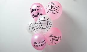 party balloons diy hen party message balloons party pieces inspiration