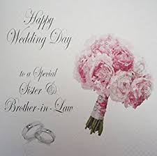 happy wedding day white cotton cards happy wedding day to a special sisier and