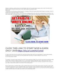 writing jobs work at home earn 200 daily
