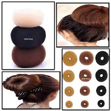 donut bun hair women fashion hair doughnut bun ring shaper donut style updo ebay