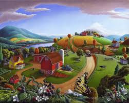 rural americana appalachian farm landscape series oil paintings