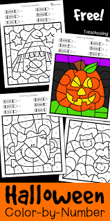 halloween color number totschooling toddler preschool