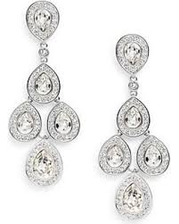 silver chandelier earrings sweet deal on sensation swarovski chandelier earrings silver