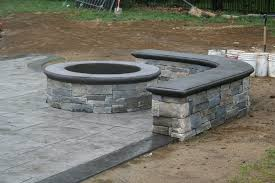 Concrete Firepits Portable Pit On Concrete Patio Ideas For Small Backyards