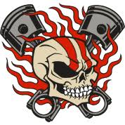 flaming skull pistons t shirt spreadshirt