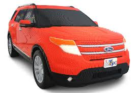 lego porsche life size ford uses 380 000 lego bricks to build life size explorer model
