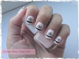 silver bow nail art tutorial beauty best friend uk beauty blog