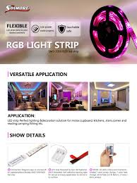 Camping Led Strip Lights by Amazon Com Solmore Led Strip Lights Rgb 4 9ft 45 Led Battery