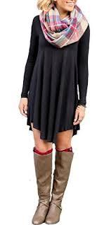 ladylala women u0027s long sleeve casual loose tunic t shirt party dress
