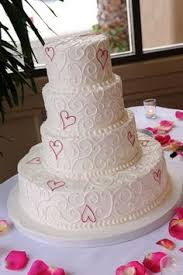 heart wedding cake a heart themed wedding if so this 4 tier scrolled