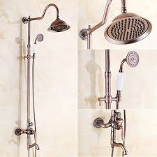 Outdoor Shower Fixtures Copper - style antique copper outside shower faucets system