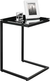 Used Glass Top Dining Table For Sale In Mumbai Amazon Com Altra Crane Glass Top C Table Black Kitchen U0026 Dining