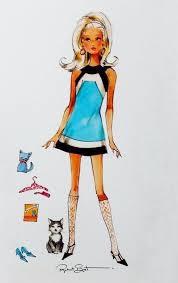 74 barbie illustration images fashion