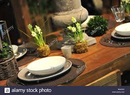 wooden table setting stock photo royalty free image 29596853 alamy
