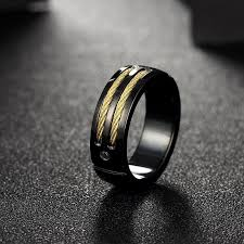 men rock rings images Hot black 316l stainless steel rings for men gold color titanium jpg
