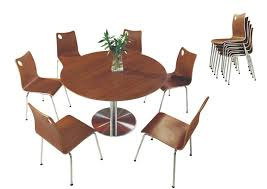 round cafe table and chair for meeting room used dining room table