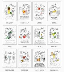 cocktail recipes 2016 classic cocktail recipe calendar art cards u0026 stationery