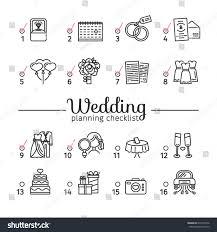 wedding planning list template template design wedding planning checklist romantic stock vector