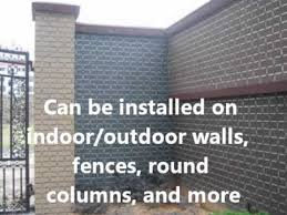 Faux Brick Interior Wall Covering How To Save Money By Covering Walls And Fences As A Brick Youtube