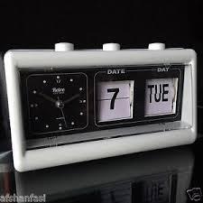 sveglia comodino retro vintage alarm table clock flip calendar manual alarm clock