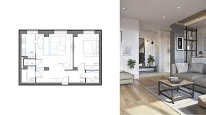 Square Living Room Layout by 3 One Bedroom Apartments Under 750 Square Feet 70 Square Metres