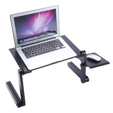 portable folding laptop table desk adjule laptop stand desk sofa bed tray computer notebook desk with mouse pad in computer desks from furniture on
