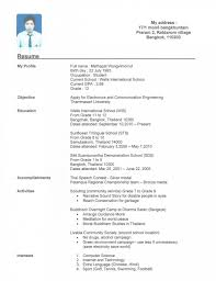 Best Resume For Engineering Students by Good High Resume Free Resume Example And Writing Download