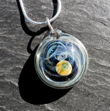 round pendants necklace images Custom hand blown round glass pendant with galaxy design by jpg