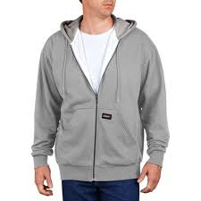 genuine dickies big men u0027s lightweight fleece full zip hoodie