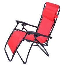 zero gravity recliner lounge chair red
