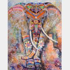 Where To Get Cheap Tapestry Tribal Watercolor Collage Boho Elephant Wall Fabric Tapestry